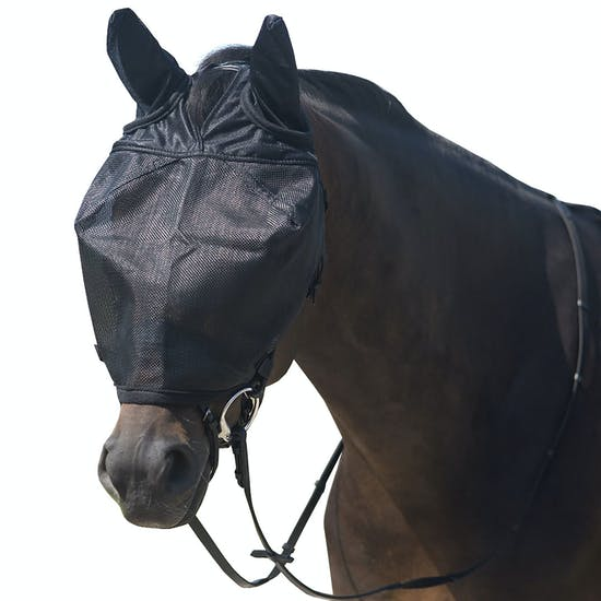 QHP Riding With Ear Protection Fluemaske