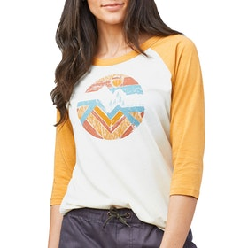 United by Blue Far Away Places Baseball 3 Quarter Ladies Long Sleeve T-Shirt - Antique White