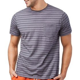 United by Blue Standard Stripe T Shirt - Steel Grey