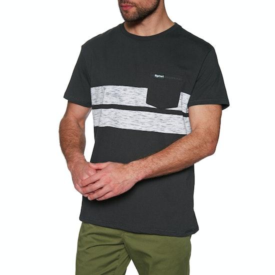 T-Shirt à Manche Courte Rip Curl Stripy Slub