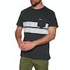 T-Shirt à Manche Courte Rip Curl Stripy Slub - Anthracite