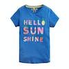 Joules Pixie Mädchen Kurzarm-T-Shirt - Blue Hello Sunshine