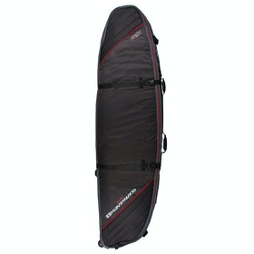 Ocean and Earth Triple Wheel Shortboard Surfboard Bag - Black Red