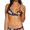 Hurley Quick Drying Floral Bralette Surf Bikini Top - Black