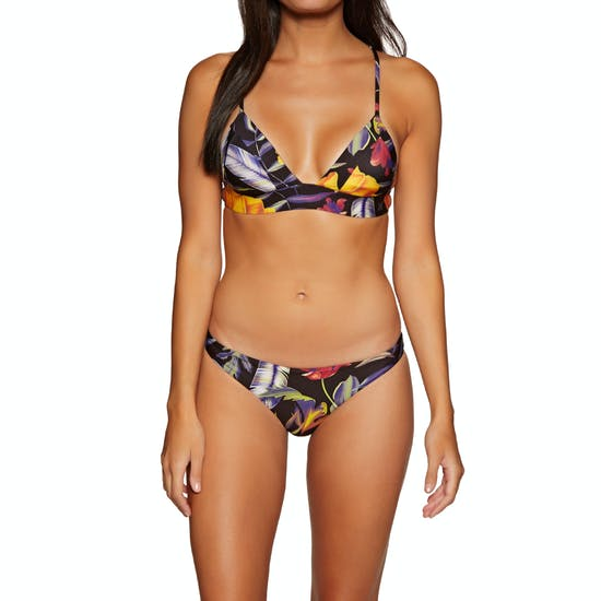 Hurley Quick Drying Floral Bralette Surf Bikini Top