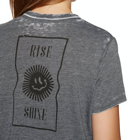 Hurley Rise & Shine Burnout Ringer Womens Short Sleeve T-Shirt