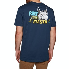 Reef Beach State Short Sleeve T-Shirt - Navy