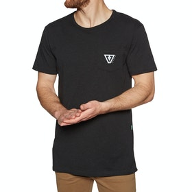 Vissla Established Upcycled Kurzarm-T-Shirt - Black Heather