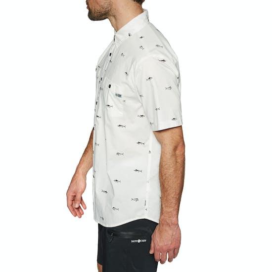 Salty Crew Market Woven Short Sleeve Shirt