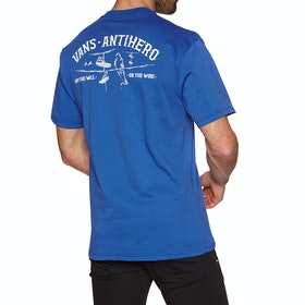T-Shirt a Manica Corta Vans X Anti Hero On The Wire - Royal Blue