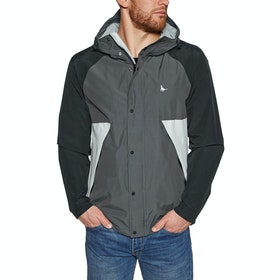 Jack Wills Bangor Showerproof Anorak Waterproof Jacket - Charcoal