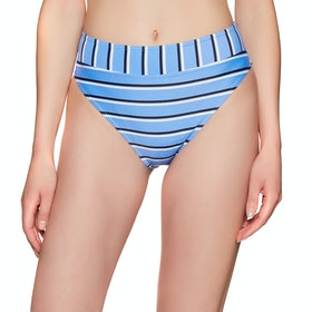 Sisstrevolution Line Up High Hip Swim Bikini Bottoms - True Blue