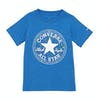 T-Shirt a Manica Corta Bambini Converse Ctp Splatter Print Fill - Totally Blue