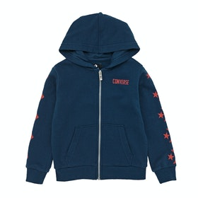 Converse Multi Star Chevron Kids Zip Hoody - Navy