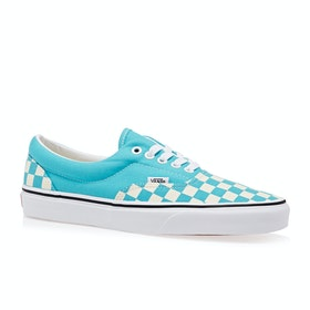 Vans Era Checkerboard Shoes - Scuba Blue True White
