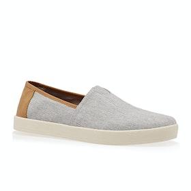 Toms Avalon Slip On Shoes - Light Grey