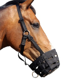 QHP Webbed Grazing Muzzle - Black