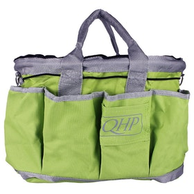 QHP Polyester Grooming Bag - Lime Grey