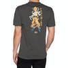 Primitive Super Saiyan Goku Short Sleeve T-Shirt - Charcoal