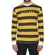 Welcome Big Beautfiul Stripe Yarn-dyed Knit Long Sleeve T-Shirt