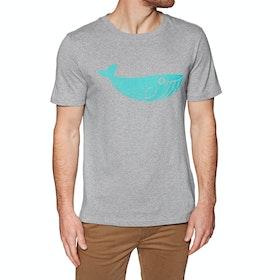 T-Shirt à Manche Courte 2 Minute Beach Clean Organic Big Whale Logo - Grey