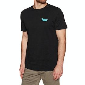 T-Shirt à Manche Courte 2 Minute Beach Clean Organic Small Whale Logo - Black