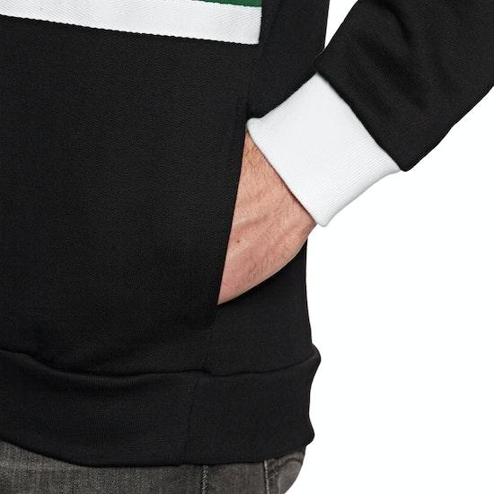 Magenta Club Neck zip Fleece