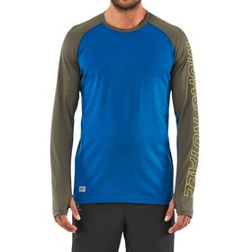 Mons Royale Temple Tech Base Layer Top - Oily Blue Olive
