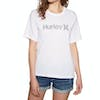 Hurley One And Only Push Through Womens Short Sleeve T-Shirt - White