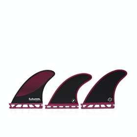 Futures P4 Legacy Thruster Fin - Burgundy Black