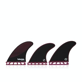 Futures P6 Legacy Thruster Fin - Burgundy Black