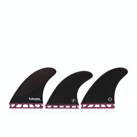 Futures P8 Legacy Thruster Fin - Burgundy Black