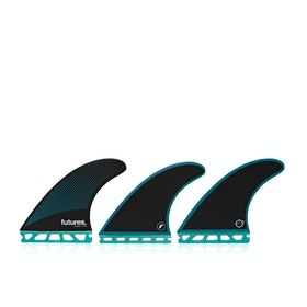 Futures R6 Legacy Thruster Fin - Teal Black