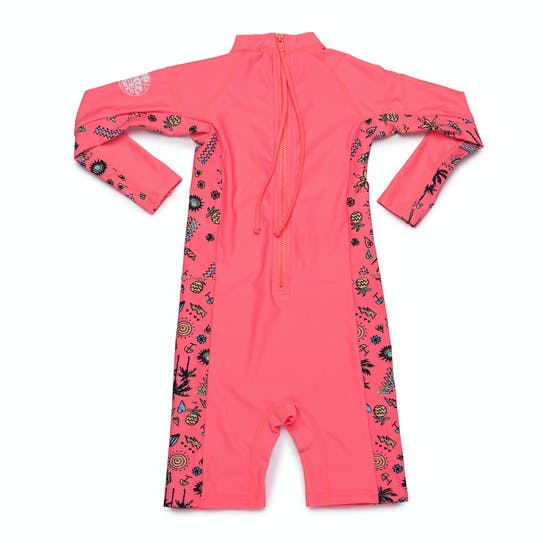 Rash Vest Girls Rip Curl Mini Long Sleeve UV Sun Suit