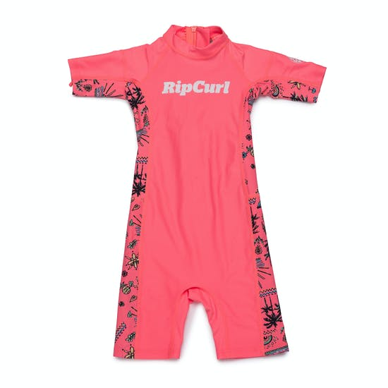 Rash Vest Girls Rip Curl Mini Short Sleeve UV Sun Suit