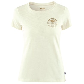 Fjallraven Forever Nature Badge Ladies T Shirt - Chalk White