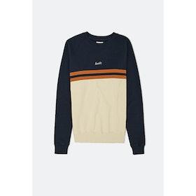 Foret Escape Sweatshirt - Cream Midnight Blue Copper