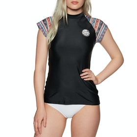 Rip Curl Cabana Capsleeve UV Womens Surf T-Shirt - Black