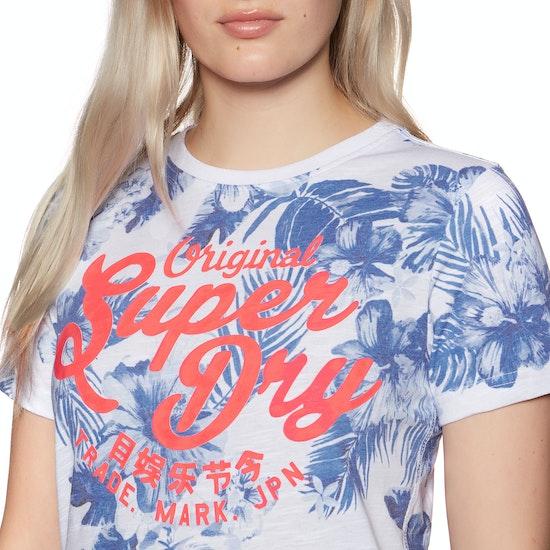 Superdry New Original Hibiscus Entry Womens Short Sleeve T-Shirt