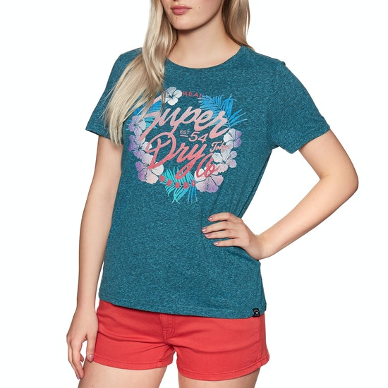 Superdry Tokyo Co Hibiscus Entry Womens Short Sleeve T-Shirt