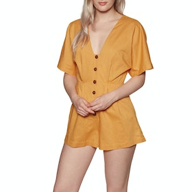Playsuit Seafolly Button Front - Gold