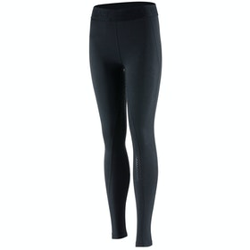 Horze Madison Silicone Full Seat Childrens Riding Tights - Black
