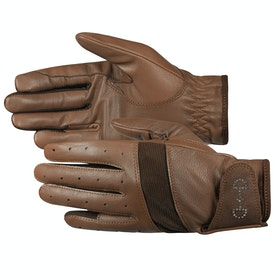 Everyday Riding Glove Femme Horze Leather Mesh - Brown