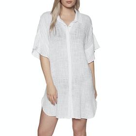 Seafolly Ruffled Sleeve Beach Kleid - White