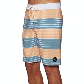 RVCA Uncivil Stripe Trunk Boardshorts - Orange