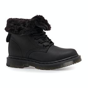 Dr Martens 1460 Kolbert Snowplow Waxy Suede Womens Boots - Black