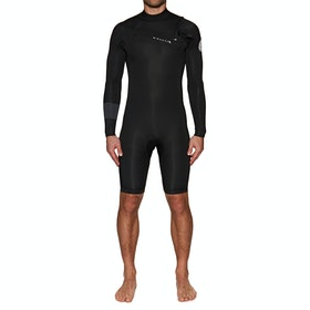 Rip Curl Aggro 2mm Chest Zip Long Sleeve Wetsuit - Black