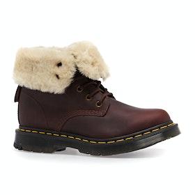 Dr Martens 1460 Kolbert Snowplow Waxy Suede Womens Boots - Dark Brown Mustang