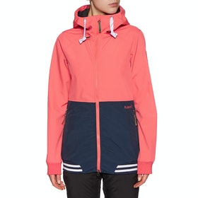 Planks Reunion Soft Shell Snow Jacket - Coral