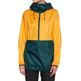 Coupe-vent Femme Planks Shredorak Packable Anorak - Sunset Yellow